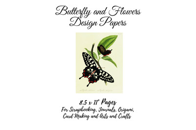 Vintage Botanical Butterflies Full Page Sheets