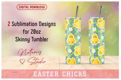 2 Funny chicks patterns for 20oz SKINNY TUMBLER
