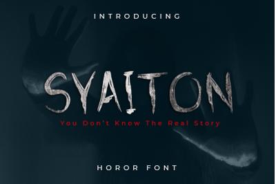 Syaiton - Horor Fonts