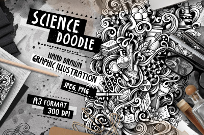 Science Graphic Doodle Hand Drawn Illustration