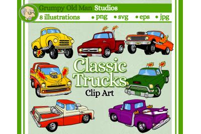 Classic Hot Rod Truck Clip Art Pack