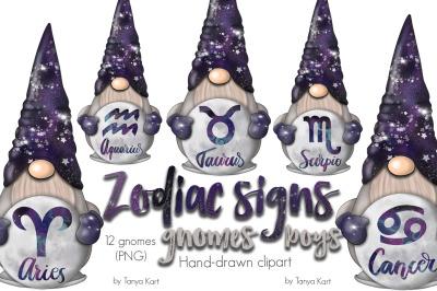 Zodiac Signs Gnomes Boys