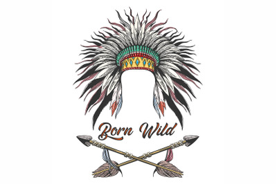 War Bonnet and Arrows Tattoo