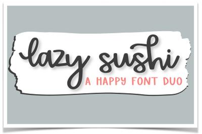 Lazy Sushi Font Duo