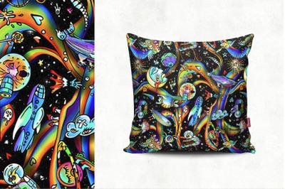 Psychedelic pattern (dark)