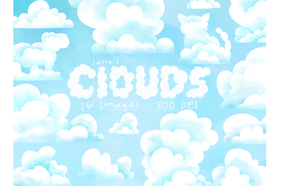 Watercolor Clouds Clipart