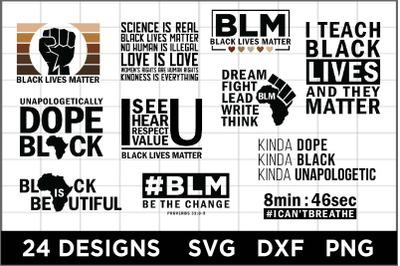 24 Black Matters Designs SVG