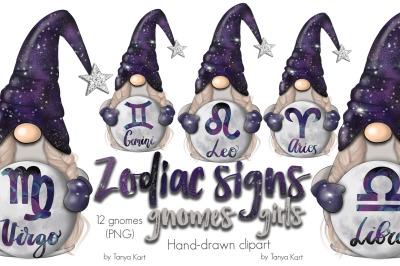 Zodiac Signs Gnomes Girls