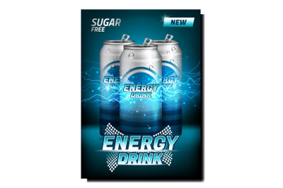 Energy Drink Creative Promotional Poster Vector