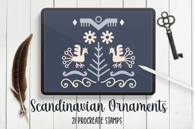 Scandinavian Abstract Procreate Stamps