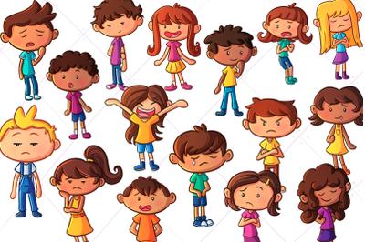 Emotion Kids Clip Art