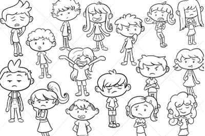 Emotion Kids Digital Stamps