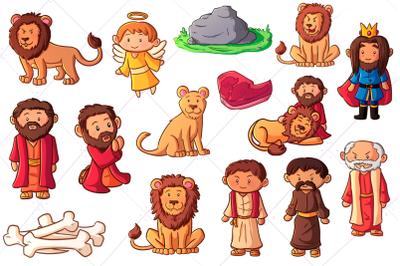 Daniel and the Lion's Den Clip Art