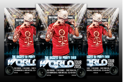 DJ World Tour - Flyer Template