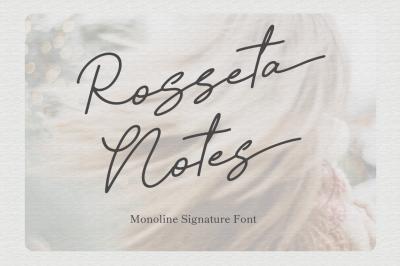 Rosseta Notes - Monoline Signature Fonts