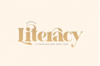 Literacy Serif Font (Serif Fonts, Sans Serif Fonts)