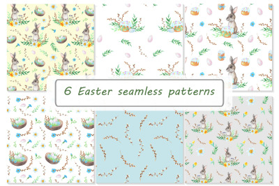 WATERCOLOR EASTER PATTERNS