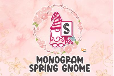 Spring Gnome Monogram