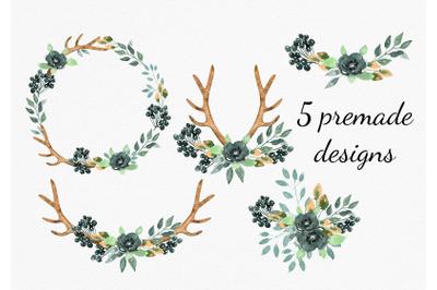 Dusty boho  flower arrangemets  for wedding