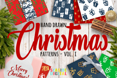 Hand Drawn Christmas Patterns I