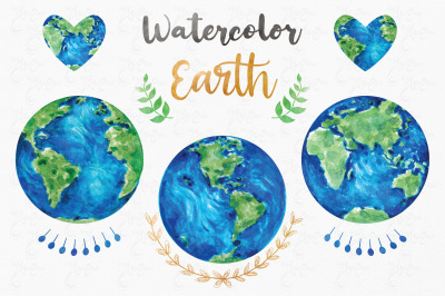 Watercolor Earth Collection Set