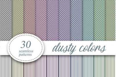 Polka dots Striped Dusty colors Digital Paper Background
