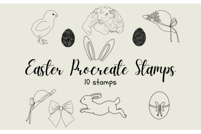 Procreate Easter Stamp Brushes X 10