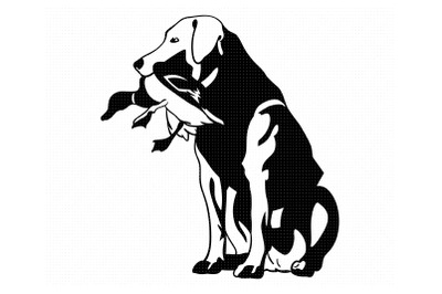 duck hunting dog svg, clipart, png, dxf logo