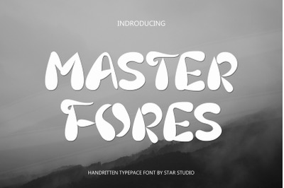 MASTER FORES font