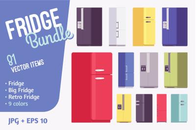 Refrigerator, fridge kitchen appliance bundle