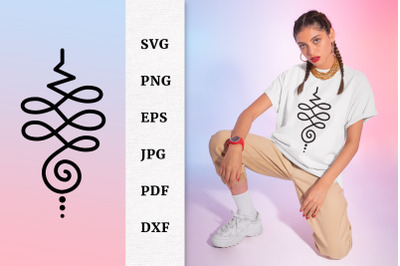 T shirt and Tattoo Design Unalome original symbol SVG File