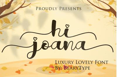 Hi Joana
