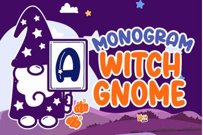 Monogram Witch Gnome