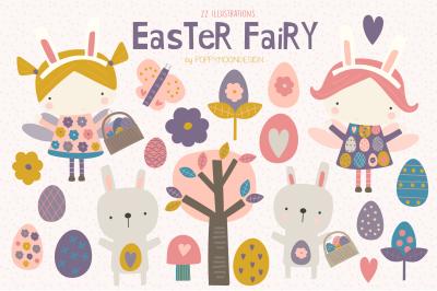 Easter Fairy clipart set