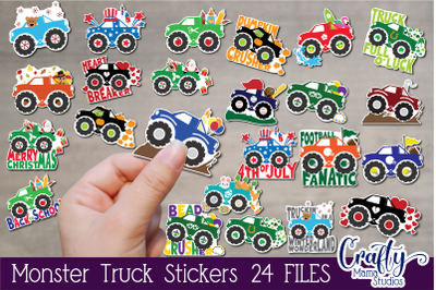 Monster Truck, Monster Truck Sticker Bundle, Kids Stickers