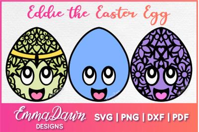 EDDIE THE EASTER EGG SVG 3 MANDALA ZENTANGLE DESIGNS