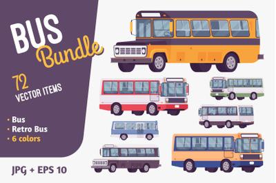Bus bundle road vehicle
