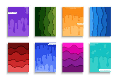 Set of creative colorful posters