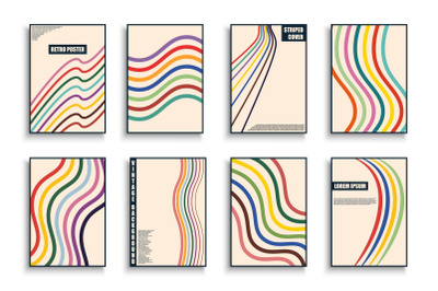 Trendy colorful covers - retro style