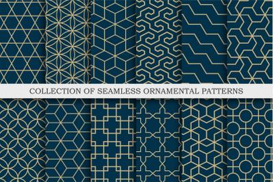 Seamless ornamental vector patterns