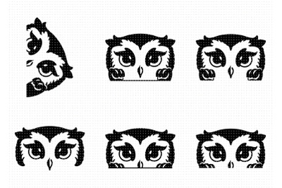 cute peeking owl SVG and PNG clipart
