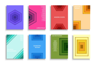 Geometric colorful posters