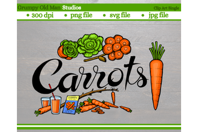 Carrots | Vegetables | Garden Labels