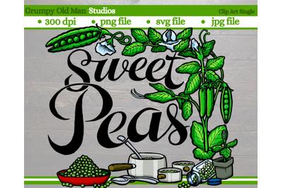Sweet peas | Vegetables | Garden Labels
