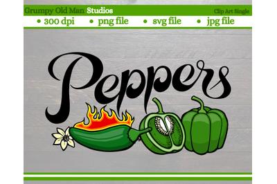 Green Peppers | Jalapeos | Vegetables | Garden Labels