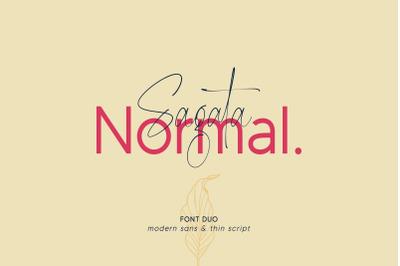 Sagata Normal - Font Duo