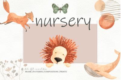 Nursery, boho style animal decor