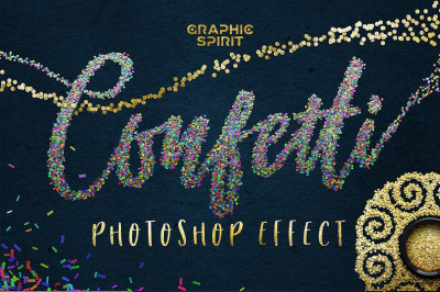 CONFETTI Effect for Adobe Photoshop