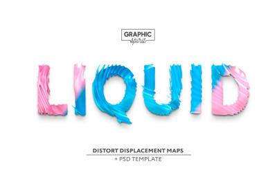 LIQUID Distort Displacement Maps +