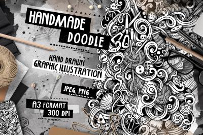Handmade Graphic Doodle Illustration